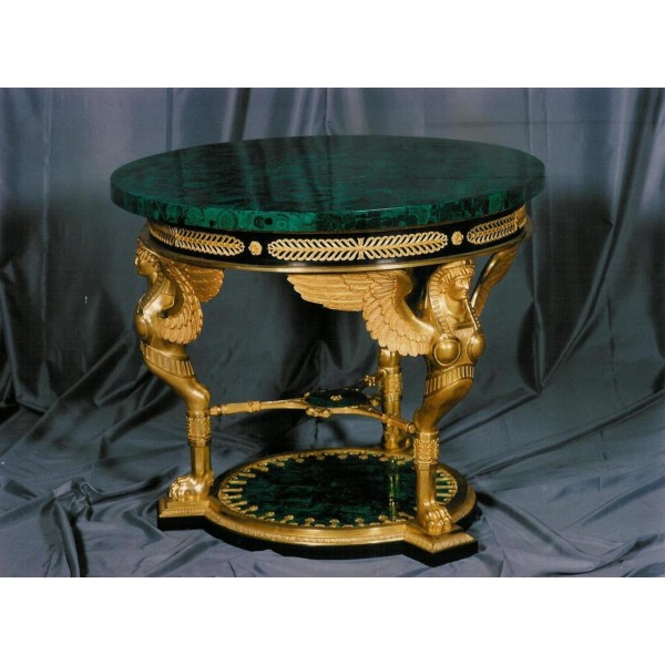 Ref.TABLE.708 malachite dia 110cm